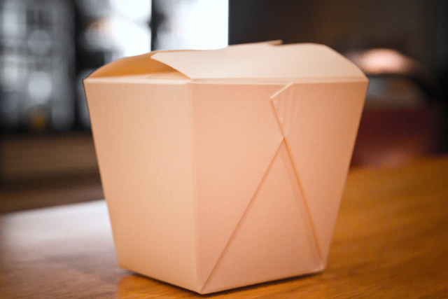 Chinese takeout box. Photo by Steven Depolo, used under a Creative Commons Attribution License.