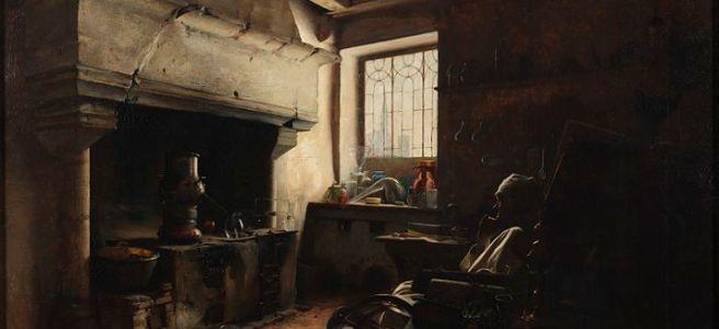 An Alchemist by E. Lomont, 1890.